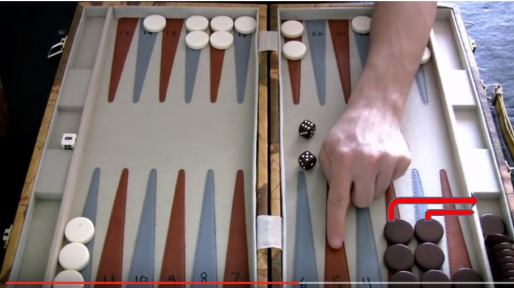 How do you bear off in backgammon?