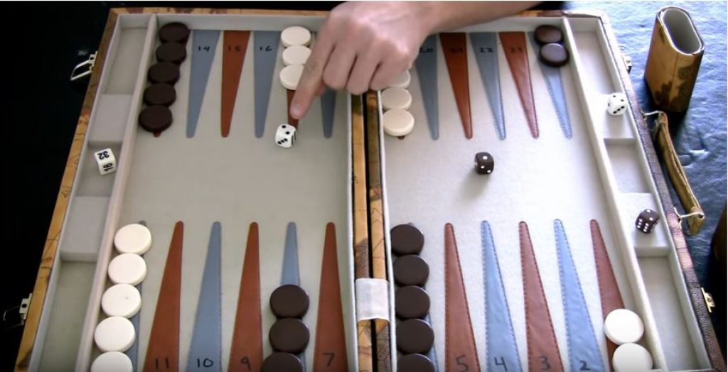 Who goes first in backgammon?