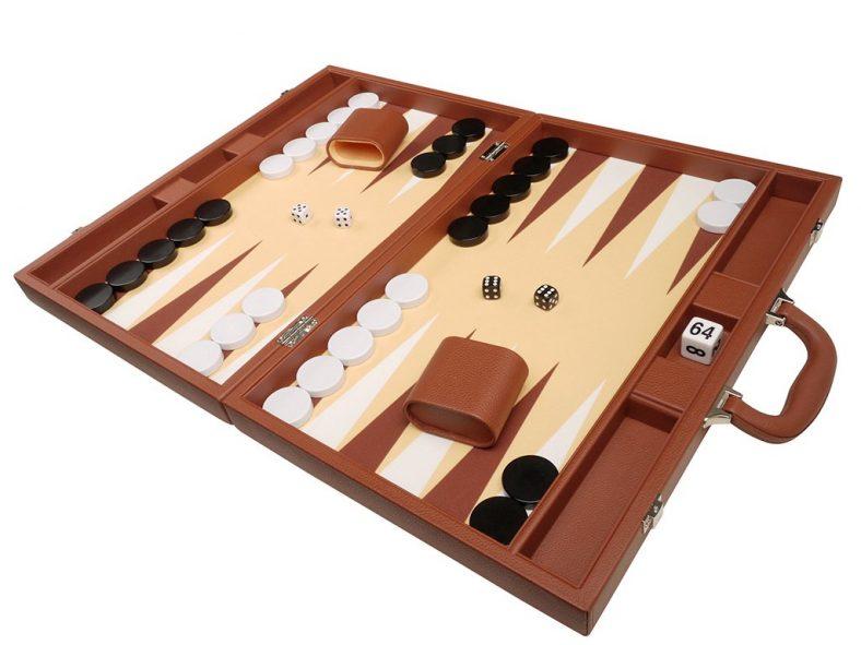 Best leather backgammon set